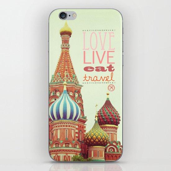 Love, Live, Eat, Travel iPhone & iPod Skin