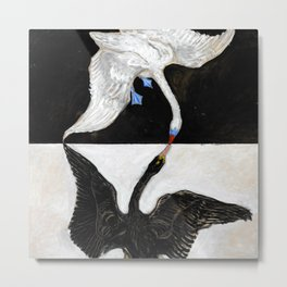 Hilma af Klint The Swan Metal Print