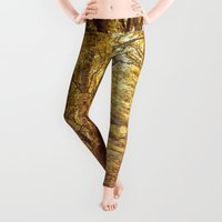 woods Leggings featuring Golden woods by Marie Carr