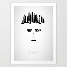 the world inside your head | Architect Art Print