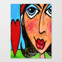 vendetta Canvas Prints featuring VENDETTA by Laertis Art