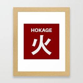 Hokage Typo Framed Art Print