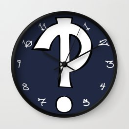 Interrobang Wall Clock