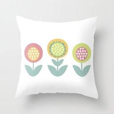 Geometric flower print  Throw Pillow