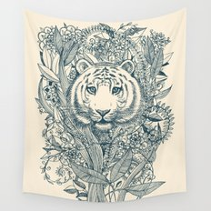Tiger Tangle Wall Tapestry