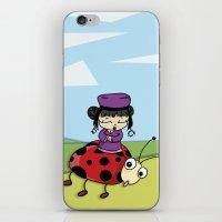 ladybug iPhone & iPod Skins featuring Ladybug by flydesign
