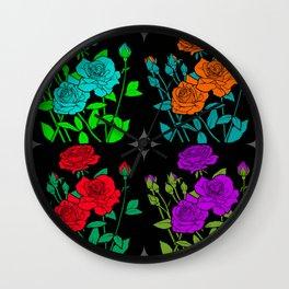 rose bushes Wall Clock