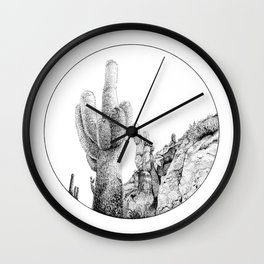 Isla Incahuasi Wall Clock