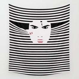 Peeking Man (Black) Wall Tapestry