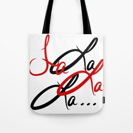 Large Fa La La La... Tote Bag