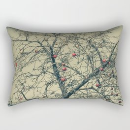 Red Apples in Empty Garden Rectangular Pillow