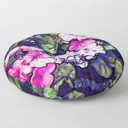 Pink Geraniums, Goddess Energy Floor Pillow
