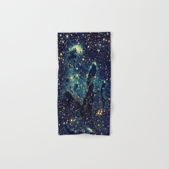 Pillars of Creation GalaxY  Teal Blue & Gold by vintageby2sweet