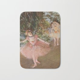 Dancer On Stage By Edgar Degas | Reproduction | Famous French Painter Bath Mat