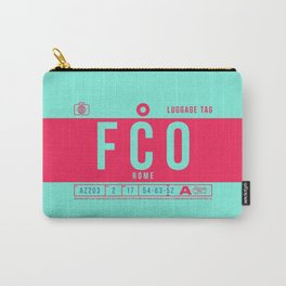 Luggage Tag B - FCO Rome Italy Carry-All Pouch