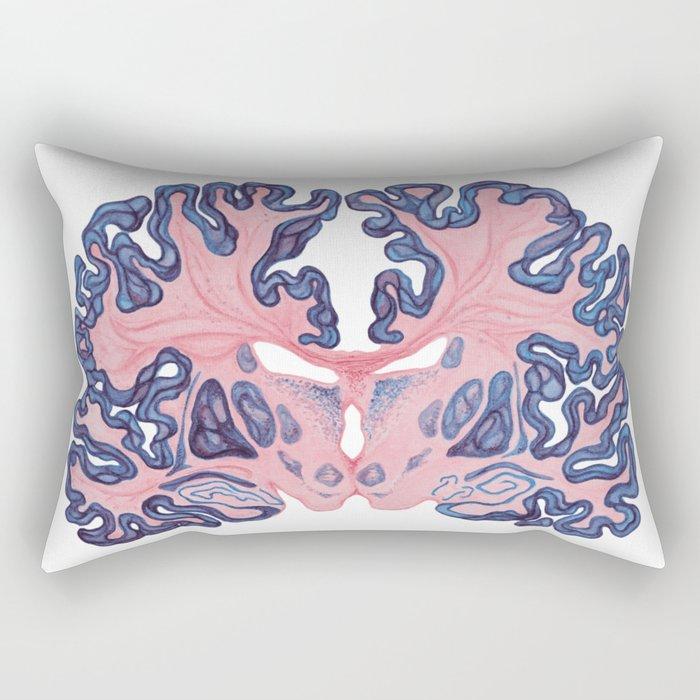 Gyri and Swirls of Human Brain Rectangular Pillow
