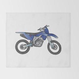Motocross motorcycle Throw Blanket