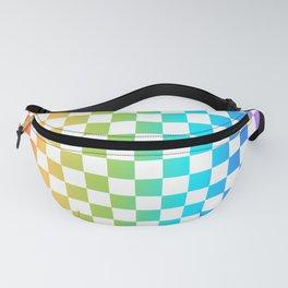Rainbow Checkerboard Fanny Pack
