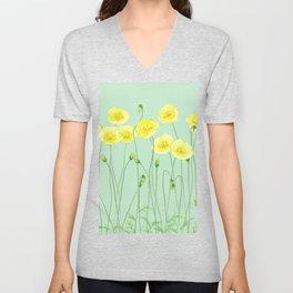 Yellow Wildflowers II Unisex V-Neck