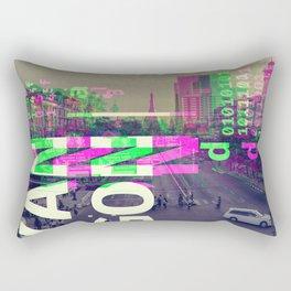 GLITCH CITY #34: Yangon Rectangular Pillow