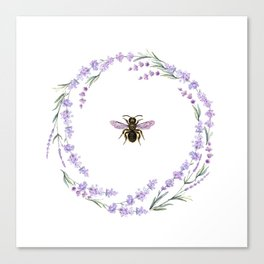 Lavender Bee Canvas Print