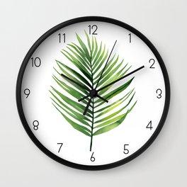 Palm Leaf. Wall Clock