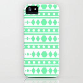 Mint Tribal Pattern iPhone Case