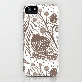 California Quail (Cocoa) iPhone Case