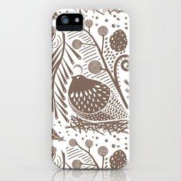California Quail (Cocoa) iPhone Case
