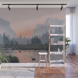 Yosemite Valley Sunrise Pretty Pink Wall Mural