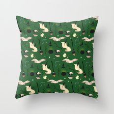 Slytherin Pattern Throw Pillow