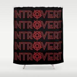 Introvert Pentagram Shower Curtain