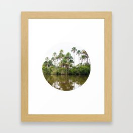 Rainforest Palms over Peruvian Amazon Circle Fine Art Print Framed Art Print