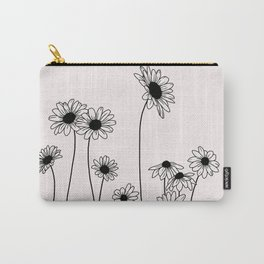 Daisy flowers illustration - Natural Carry-All Pouch