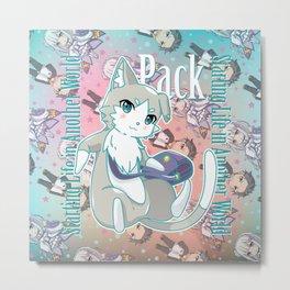 Chibi Pack Metal Print