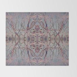 Pink fire geometry III Throw Blanket