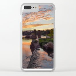 Panoramic River Sunset Clear iPhone Case