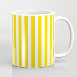 Vertical Stripes (Gold/White) Coffee Mug