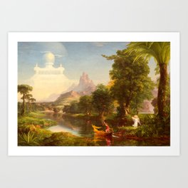 Thomas Cole - The Voyage of Life Youth, 1842 Art Print