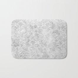 White Lace Bath Mat