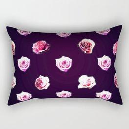 All Over Rose Print Rectangular Pillow