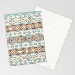 Aztec Essence Ptn IIIb Blue Crm Terracottas Stationery Cards