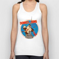 donkey kong Tank Tops featuring Donkey King Kong by Vickn