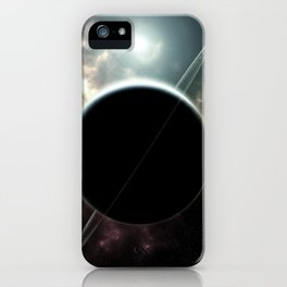 Ringed Planet Deep Space iPhone Case
