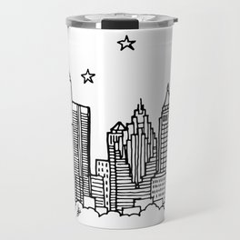 Atlanta, Georgia City Skyline Illustration Drawing Travel Mug