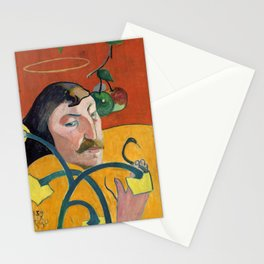 """Paul Gauguin """"Self-Portrait with Halo and Snake"""" Stationery Cards"""