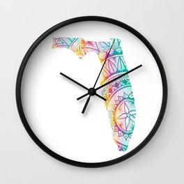 ArtSea Florida Wall Clock