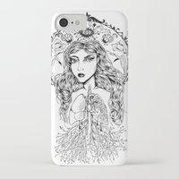 lungs iPhone & iPod Cases featuring Lungs by jemmalobweinart