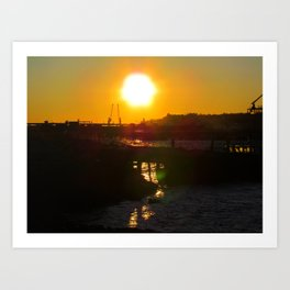 February Sunset at Bug Light (6) Art Print
