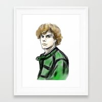 evan peters Framed Art Prints featuring Evan Peters by Lyre Aloise